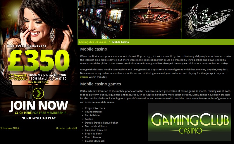 the gaming club casino download