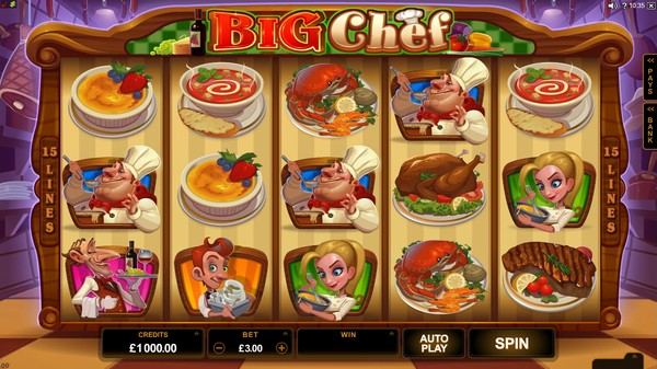 Play Big Chef Pokie Free